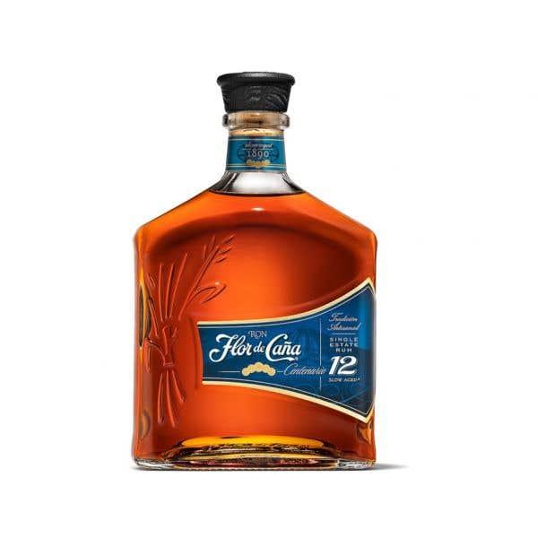 Ron Flor De Caña 12 Y 750 ml Con Vaso CBD
