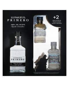 Tequila Lunazul Primero Cristalino 750ml + 2 Mini Blanco y Reposado
