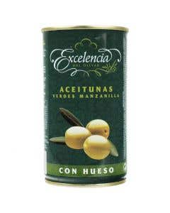 ACEITUNA VER C/HUESO EXC 350GRS