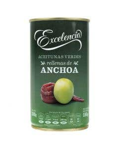 Aceitunas Rellenas de Anchoas Excelencia - 350 grs