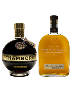 Whiskey Woodford Reserve - 750 ml + regalo  licor Chambord - 750 ml