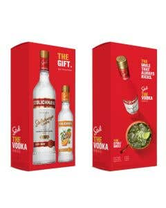 Vodka Stolinchnaya 750 ml + Vodka Stolichnaya Orange 375 ml
