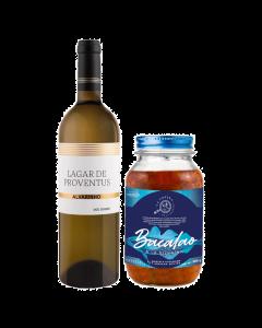 Vino Blanco Lagar de Proventus Albariño - 750 ml + Bacalao Noruego Artesanal a La Vizcaina - 900 g
