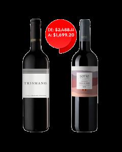 Vino tinto Tre3smano 750 ml + vino tinto serie by La Europea 750 ml