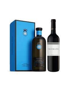 Tequila Casa Dragones Añejo Barrel Blend + Vino Tinto Tr3smano 750 ml
