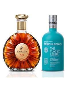 Cognac Remy Martin XO 700 ml + Whisky Bruichladdich 700 ml personalizada