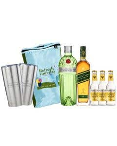 Combo Refresh Your Day Tanqueray Ten 700 ml + Johnnie Walker Green Label 700 ml + 3 Aguas tónicas Fever Tree 200 ml + regalos
